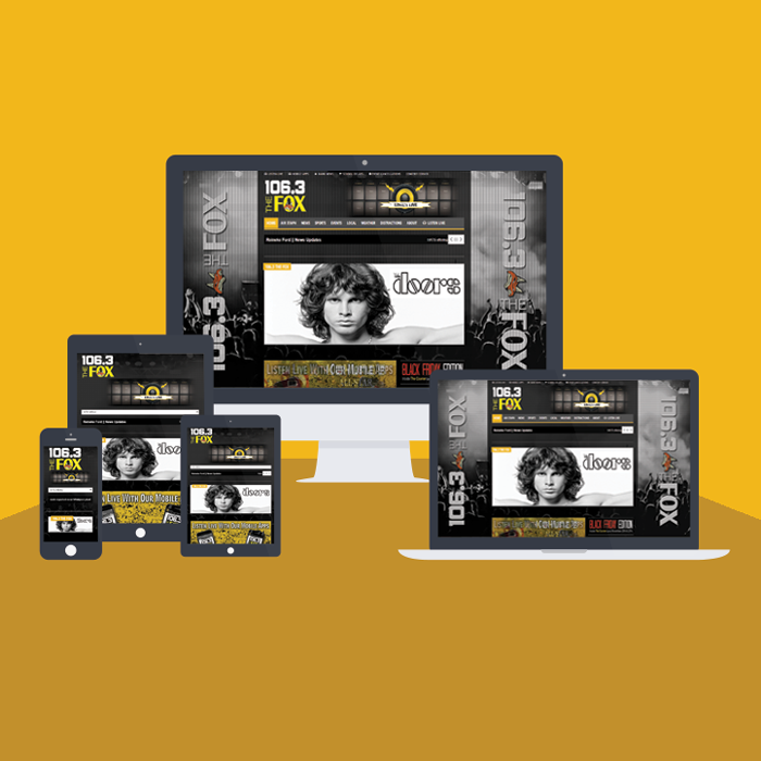 Responsive Website - 106.3 The Fox
