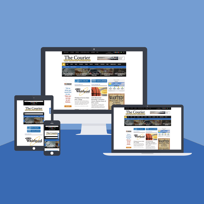 The Courier Responsive Example